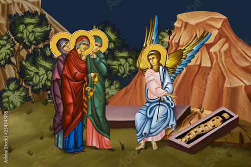 Myrrhbearing Women at the Tomb of Christ Fototapeta