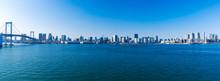 (東京都-風景パノラマ)レインボーブリッジから晴海埠頭までの風景3
