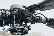 Military Helicopter Rotor Blade Detail Close-up