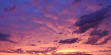 Dramatic Oklahoma Pink And Blue Sunset