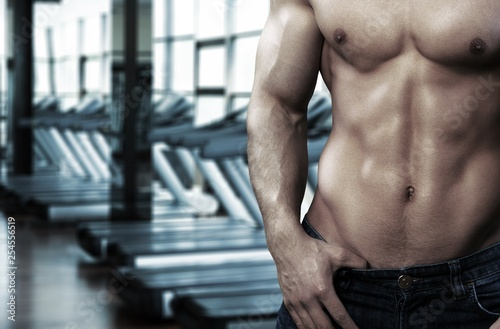 Foto op Plexiglas Europa Bodybuilder.