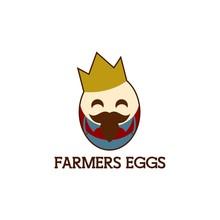 Farmers Egg King Mascot Vector...