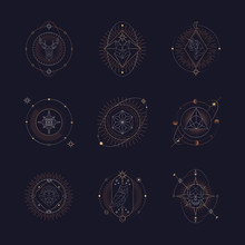 Geometric Astrological Symbols...