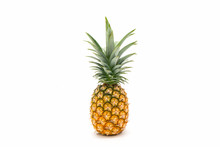Pineapple With Green Leaves Is...