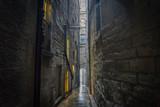 Fototapeta Uliczki - Edinburgh medieval narrow streets