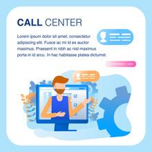 Call Center Support Operator Headset Client Work