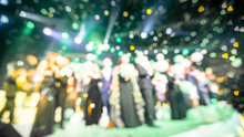 Blurred Background Of  The Award Ceremony Theme Creative. Background For Business Concept