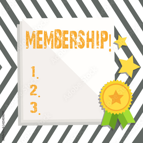 Fotografía  Word writing text Membership