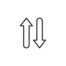Up And Down Arrows Line Icon. ...
