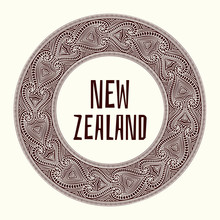 New Zealand. Vector Illustrati...