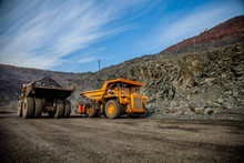 Yellow Truck In A Quarry