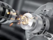 Closeup Of Generic CNC Drill E...
