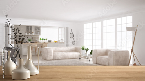 Groovy Wooden Table Top Or Shelf With Minimalistic Modern Vases Ocoug Best Dining Table And Chair Ideas Images Ocougorg