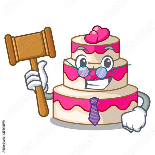 Fényképezés  Judge wedding cake isolated with the mascot