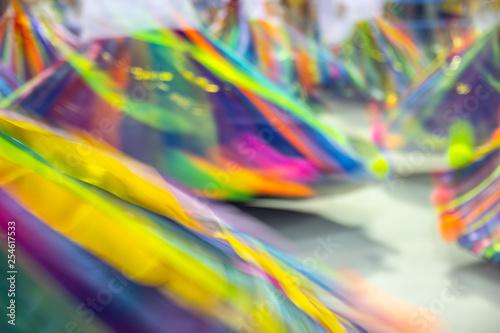 samba baianas dress in movement Fototapet