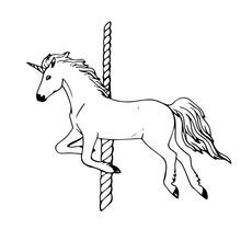 Unicorn Carousel Horse