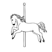 Flying Carousel Horse