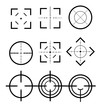 Different icon set of targets and destination. Target and aim, targeting and aiming. Different icon set of targets and destination.