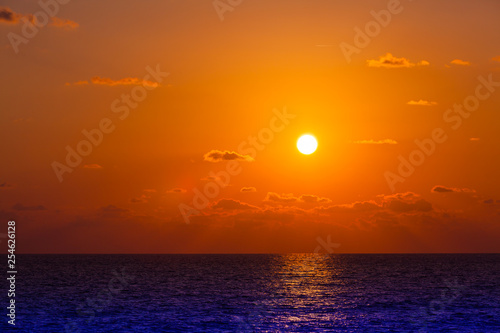 Poster Cuban Red Sunset on the Black Sea in Sochi