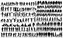 Silhouette People Set