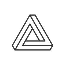 Penrose Triangle Icon.