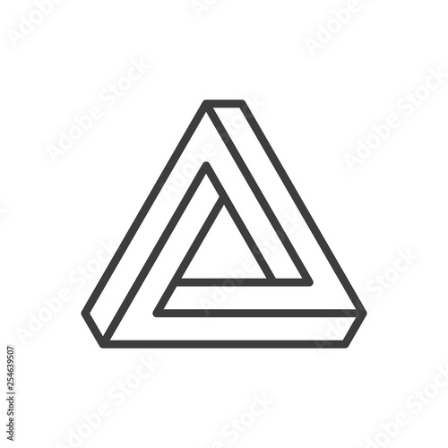 Penrose triangle icon. Billede på lærred