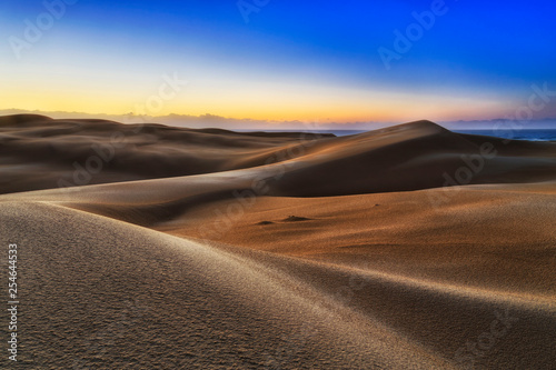 Foto  Dunes Cold Morning Sea Rise