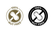 Nut Free Food Vector Icon. Foo...