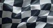 canvas print picture - Black and white checkered racing flag.