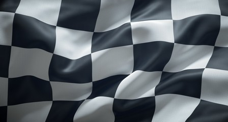 Black and white checkered r...