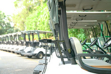 Golf Carts Parked Outdoor