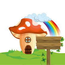 Raw Mushroom House Cartoon