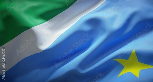 Fotografija  Official flag of Mato Grosso do Sul. Brazil.