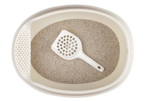 Clay Cat Litter.  Isolated On ...