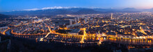 Aerial Panorama Of Grenoble At...