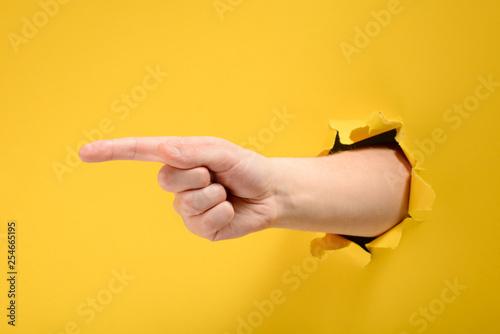 Fototapeta Hand point at something obraz