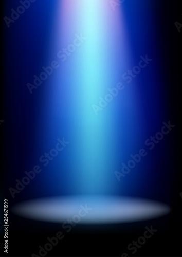 Fototapeta Illumination effects of blue spotlight obraz na płótnie