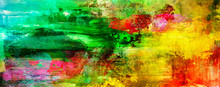 Malerei Texturen Abstrakt Rakel Querformat