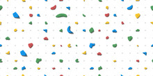 Holds For Rock Climbing On A Wall In The Gym. Seamless Background Flat Style Vector Illustration.