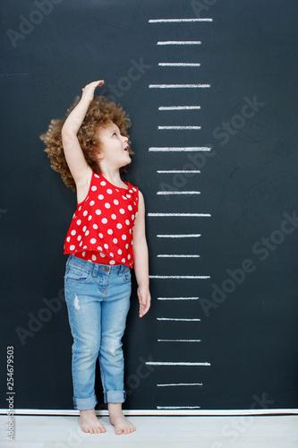 Pinturas sobre lienzo  Child measure height