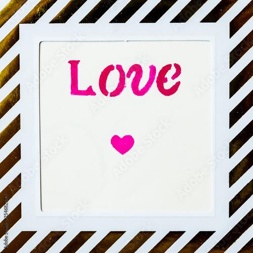 Fotografie, Obraz  Love calligraphié, message d'amour
