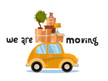 We Are Moving Lettering Concep...