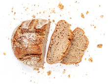 Sliced Bread Isolated On  Whit...