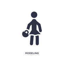Modeling Icon On White Background. Simple Element Illustration From Activity And Hobbies Concept.
