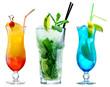 Leinwandbild Motiv classic cocktails isolated on white background