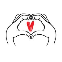 Hands Make Heart Symbol