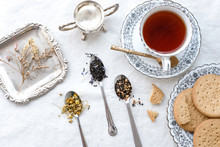 Different Types Of Tea On Vint...