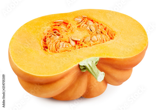 Vászonkép Pumpkin isolated on white