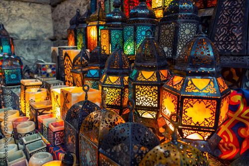 Fotografia muslim style's lantern shining