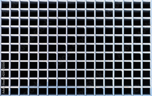ventilation grille, metal grid, bird perspective Fotobehang